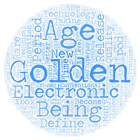 echoes: Are We In A Golden Age Of Electronics text background wordcloud concept