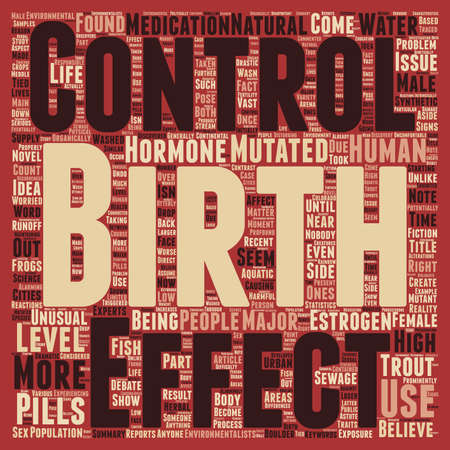 trout: Birth Control Pills Create Mutant Trout text background wordcloud concept