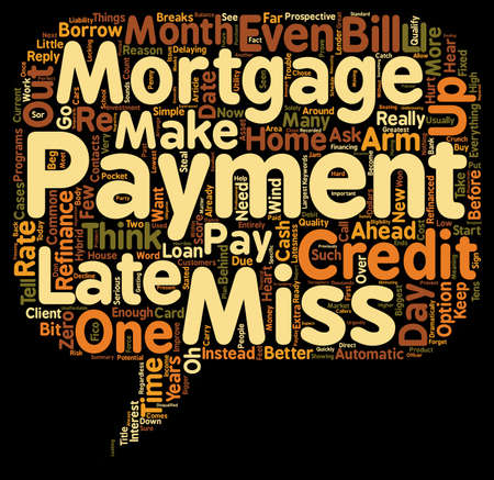 make summary: Beg Borrow Or Steal Make That Mortgage Payment text background wordcloud concept