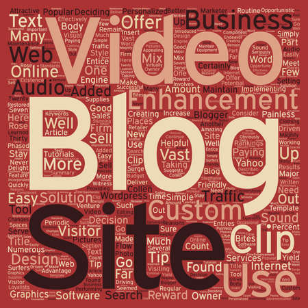 implementing: Attractive Enhancements For Your Blog text background wordcloud concept