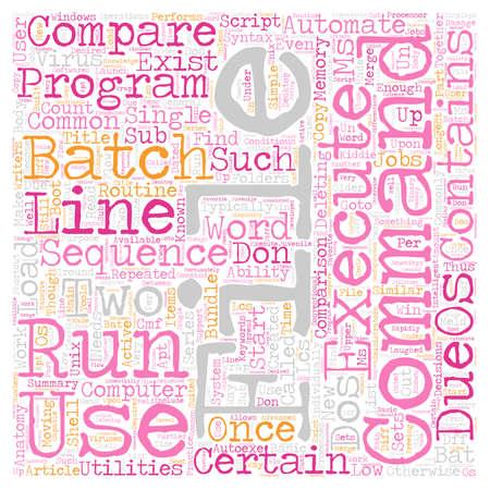 automate: Batch File Compare Automate Routine Jobs text background wordcloud concept Illustration
