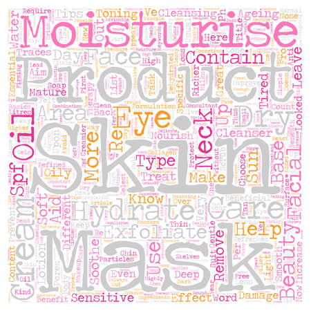 navigating: Beauty essentials and useful tips for facial therapy text background wordcloud concept