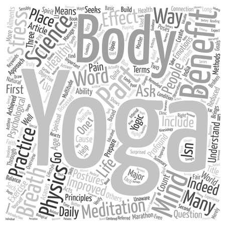 part of me: Benefit of Yoga Part I text background wordcloud concept