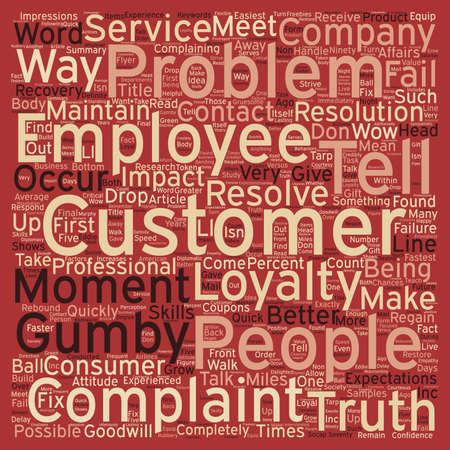 Betere manieren om klachten Handle tekst achtergrond wordcloud begrip