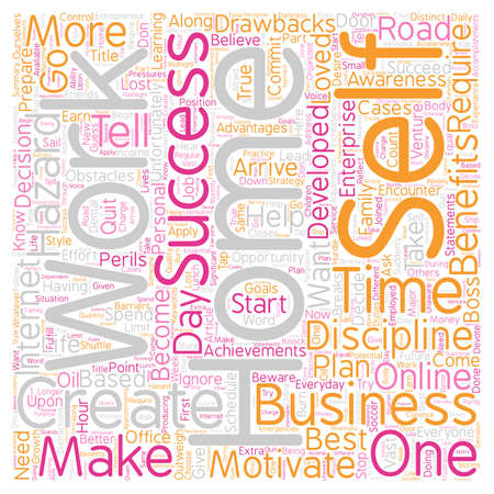 Beware Of The Hazards Of A Home Business text background wordcloud concept