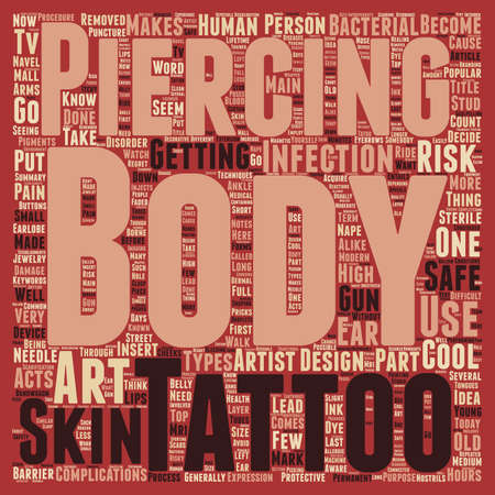 Body Art It s Cool To Be Safe text background wordcloud concept