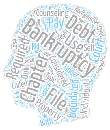 Bankruptcy Fundamentals text background wordcloud concept Illustration