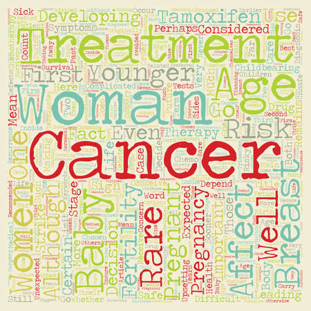 Breast Cancer And Pregnancy text background wordcloud concept