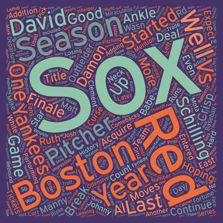 curse: Boston Red Sox Preview text background wordcloud concept