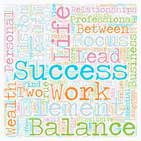 Beyond the Work Life Balance text background wordcloud concept Illusztráció
