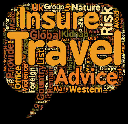 won: At Your Own Risk 10 Countries Where Travel Insurance Won t Be Able To Help You text background wordcloud concept