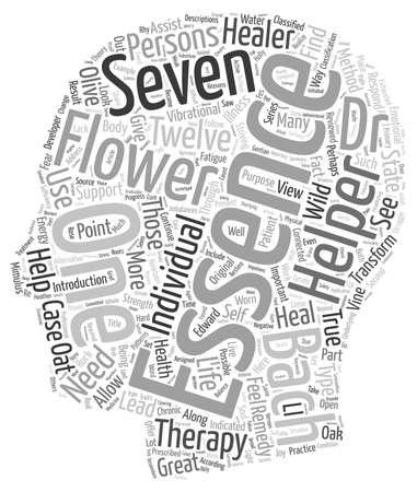 essences: Bach Flower Essences And Remedies The Seven Helpers text background wordcloud concept