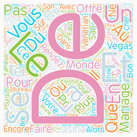 Bons Plans versez texte Mariage express concept background wordcloud