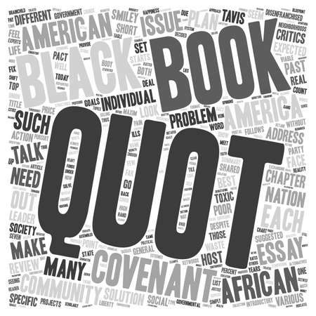covenant: Book Review The Covenant with Black America text background wordcloud concept Illustration