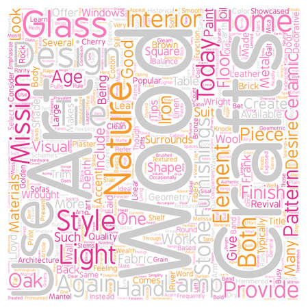revival: Arts and Crafts Revival text background wordcloud concept Illustration