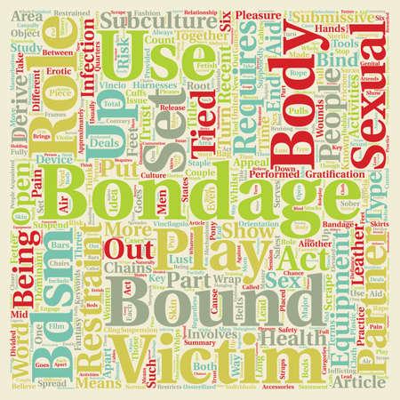 restraint: Bondage Bandage text background wordcloud concept