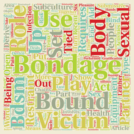 Bondage Bandage text background wordcloud concept