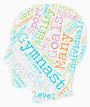 developmental: Benefits of Gymnastics text background wordcloud concept