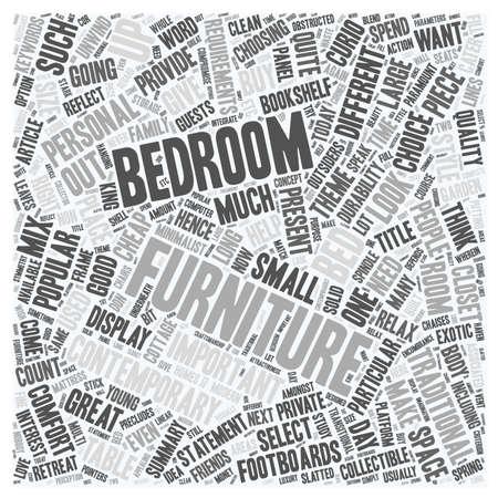 寝室の家具を作るあなた自身の個人的な文テキスト背景 wordcloud コンセプト