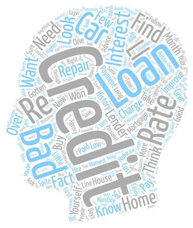 hype: Bad Credit Loan Let s Cut Through the Hype text background wordcloud concept