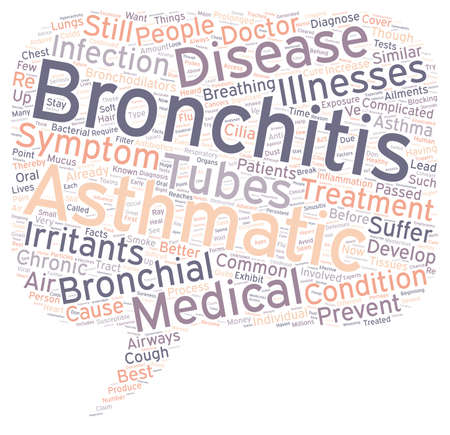 bronchitis: asthmatic bronchitis text background wordcloud concept