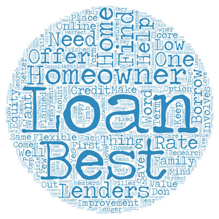 homeowner: Best Homeowner Loans Perfect Package for homeowners text background wordcloud concept Illustration