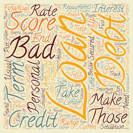 opportunity concept: Bad Debt Personal Loans Put Your Life Back On Track With This Opportunity text background wordcloud concept