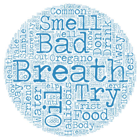 Bad Breath Halitosis text background wordcloud concept