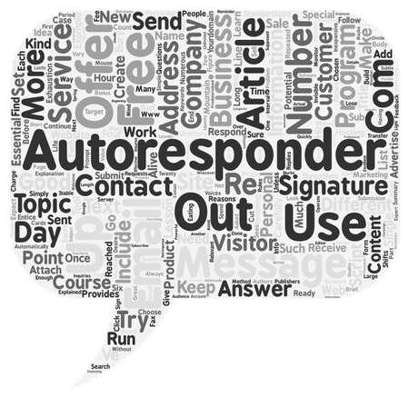 AutoResponders Explained text background wordcloud concept