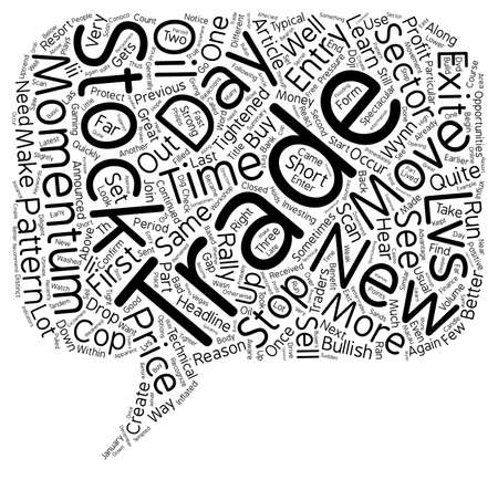 quite time: Better Trades Momentum Part III text background wordcloud concept Illustration