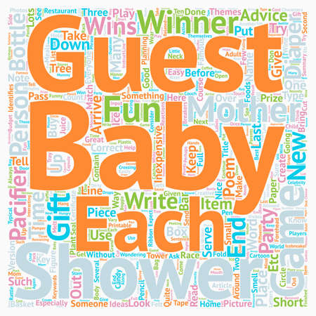 inexpensive: Baby Shower Games Can Be Fun AND Inexpensive text background wordcloud concept Illustration