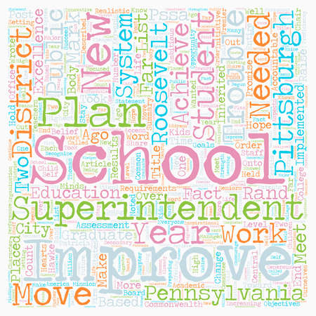 superintendent: Are Pittsburgh Schools In Trouble text background wordcloud concept