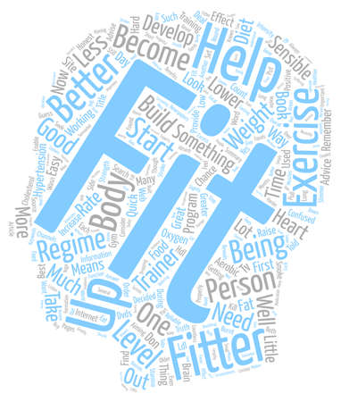healthier: Become Healthier Become Fitter text background wordcloud concept