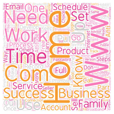 make summary: Basic Steps for Home Business Success text background wordcloud concept