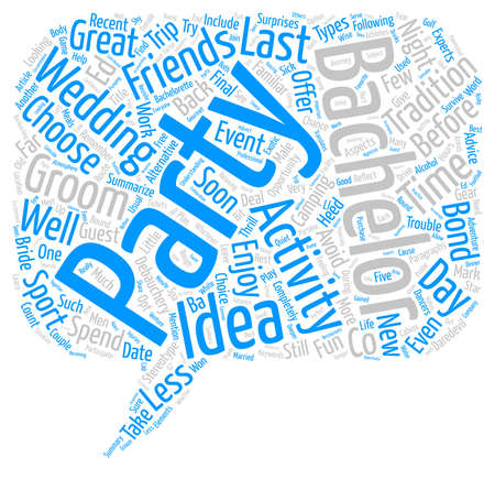 Bachelor Party Ideas text background word cloud concept