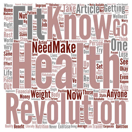 slaves: Fitness Pros Health Nuts Office Slaves And Home Bodies text background word cloud concept Illustration