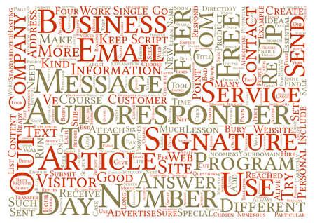 AutoResponders Explained Word Cloud Concept Text Background