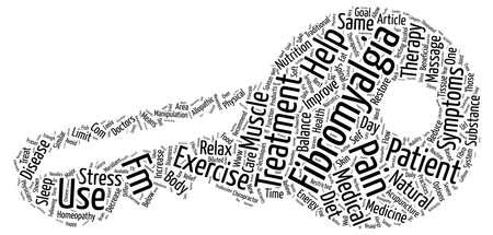 Fibromyalgia 치료 옵션 텍스트 배경 단어 구름 개념