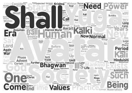 Avatar the Concept of Avaatar in Hinduism manifest God Does It Hold Good text background word cloud concept