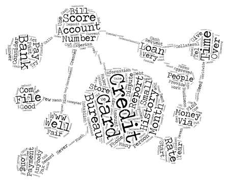 widespread: Credit Cards And Your Credit History text background word cloud concept