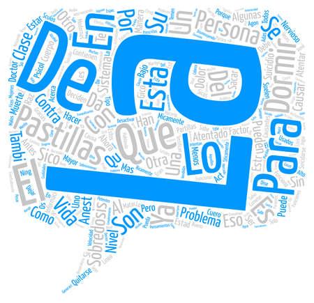 con: As Funciona el Suicidio con Sobredosis de Pastillas text background word cloud concept Illustration