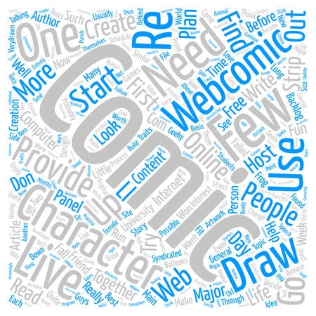 syndicated: Create Your Own Webcomic text background word cloud concept