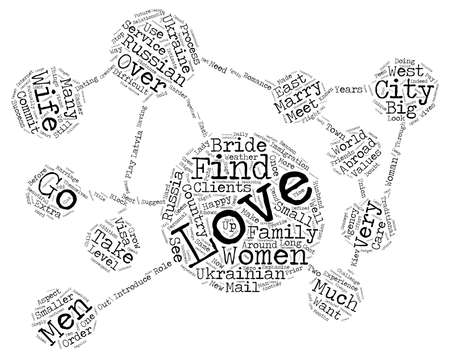 marrying: Find a Russian Wife Ukrainian Wife Russian Bride or Ukrainian Bride text background word cloud concept