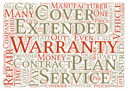 Auto Repair Insurance Extended Warranties Myths And Facts text background word cloud concept
