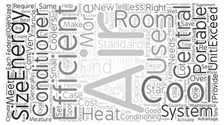 Find The Right Size Room Air Conditioner text background word cloud concept