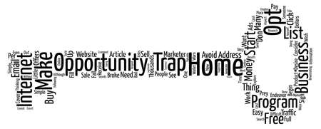 avoid: Avoid A Trap When You Start A Business From Home text background word cloud concept