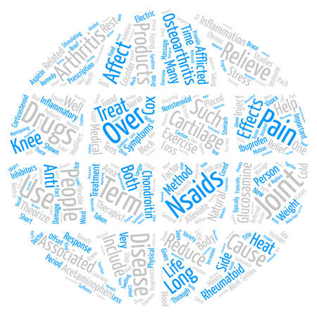 afflicted: Arthritis Remedy text background word cloud concept