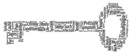 Fibromyalgia Widespread Chronic Muscle Pain text background word cloud concept