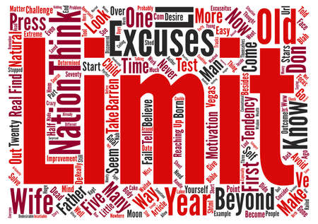 tendency: Avoid This Tendency And You ll Press Beyond Your Limits text background word cloud concept Illustration