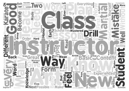 martial ways: Five Common Mistakes That New Karate Instructors Make Word Cloud Concept Text Background Illustration